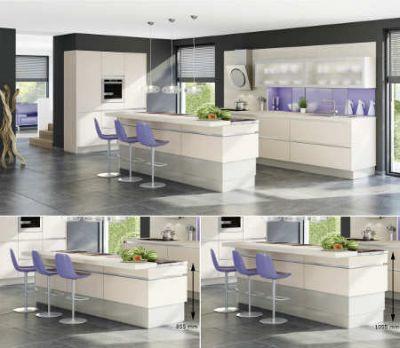 elektrisch verstellbare Sockelsystem in der Küche Foto AMK