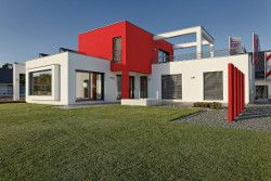 Farbige Fassaden strahlen Individualität und Gemütlichkeit aus