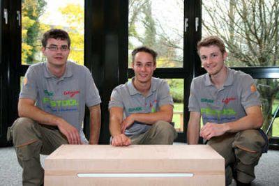 Die Gewinner v.l.n.r  Jan Eulenberger 3. Platz, Peter Krauß Sieger und Deutscher Meister, Christian Grobbel 2. Platz