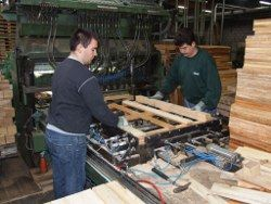 Ein Beruf mit Potenzial: Der Holzmechaniker im HPE-Betrieb. Foto: hapack/HPE