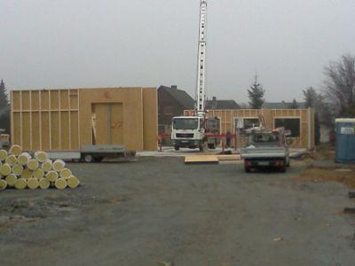 Holzhaus aufbau