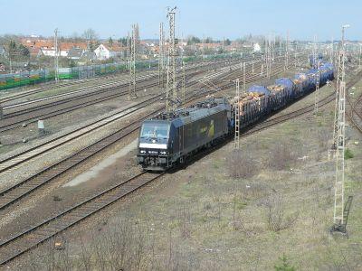 Zug mit Kiefernsargholz