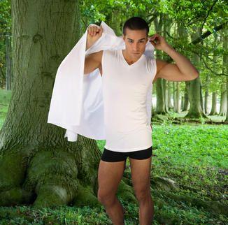 Unterhemd aus Holz