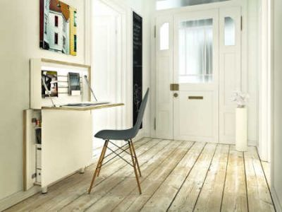 schmaler Sekretär eignet sich als Mini-Home-Office Foto Müller Möbelwerkstätten    VDM
