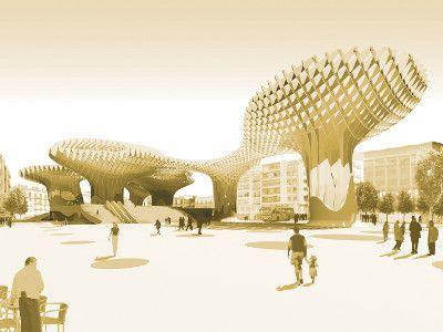 Kebstoff für Holz © J. MAYER H. Architekten