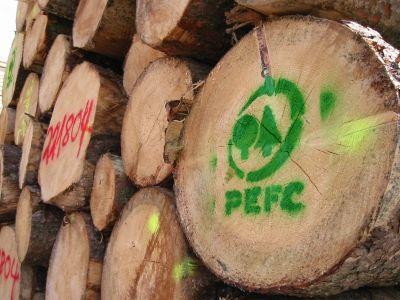 Holz mit PEFC