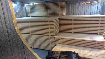 Trockenkammer-innen für technische Holztrocknung