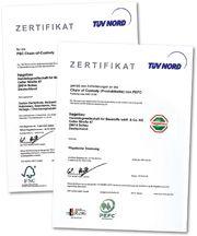 PEFC- und/oder FSC-zertifiziert