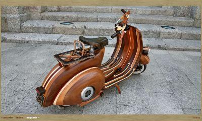 Holz Vespa